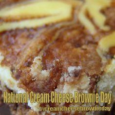 National Cream Cheese Brownie Day - February 10, 2018