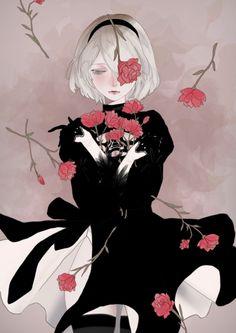 Kawaii Art, Kawaii Anime, Pretty Art, Cute Art, Drakengard Nier, Character Art, Character Design, Gothic Anime, Dark Anime