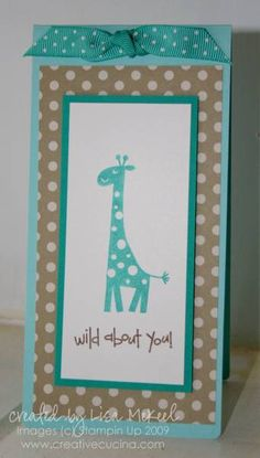 Wild About You Giraffe by lisalisella - Cards and Paper Crafts at Splitcoaststampers