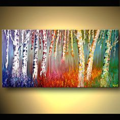 Large Expressionist Palette Knife Painting by OsnatFineArt on Etsy, $520.00