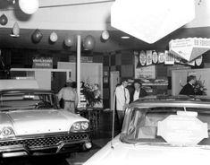 Ford dealership, 1959.