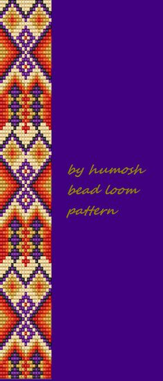 ethnic bead loom pattern by Humosh on Etsy                                                                                                                                                      More