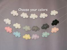 Custom Felt Cloud garland Cloud Nursery decor Wall Decor Cloud