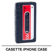 Cassette iPhone Case - Modeled to look like an old school cassette tape, protect your iPhone 4/4s in style with this premium silicone case.