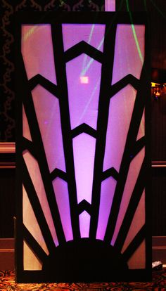 1920s Art Deco | Art Deco 1920s Great Gatsby Speakeasy Back Lit Screen