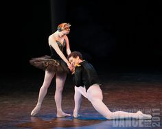 "Gillian Murphy and Cory Stearns perform ""Black Swan"" at International Evenings of Dance on 8.6.11 at the Gerald R. Ford Amphitheater, part of the 2011 Vail International Dance Festival."
