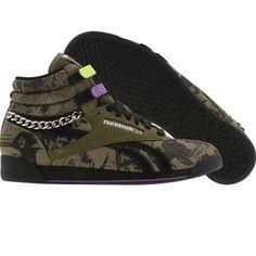 Reebok Womens Freestyle High ( green   black   purple) 2-711192 -  64.99 ·  Purple ShoesFitness FashionReebokCamoCamouflage 79de2fa33
