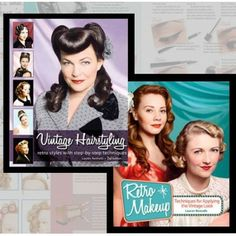 Vintage Hairstyling: Retro Hairstyles & Retro Make Up Books by Lauren Rennells Get your 2 Book Set Today with FREE Priority Mail Upgrade-Only At RockABillyGirlZ