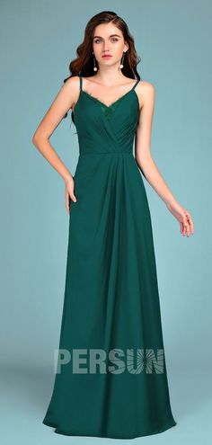 Robe de soirée verte bustier cœur ruchée pour femme ronde avec traîne