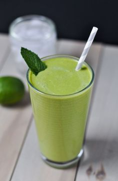 This super easy and healthy dairy-free Mojito Green Smoothie will leave you feeling energized and refreshed!