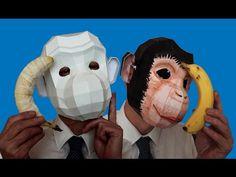 Building PolyFacets Monkey Mask - Craft Tutorial SpeedArt