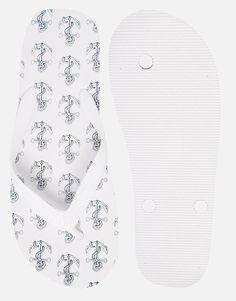 Image 3 ofASOS Flip Flops With Anchor Print
