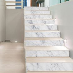 Marble Staircase, Tile Stairs, Small Appartment, Bathroom Remodel Pictures, Wood Floor Design, Stair Art, Marble House, Modern Stairs, Bedroom Bed Design