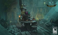 ArtStation - Fearful Tales - Goblin's Hut Inside (Making Of), Vanja Todoric Environment Sketch, Environment Design, Game Environment, Bg Design, Prop Design, Background Drawing, Animation Background, Digital Texture, Interior Concept