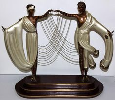 Artist: Erte; Title: Wedding Year, 1986; Medium: Bronze sculpture.