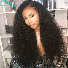 Bythairshop Long Curly Lace Wig Glueless Full Lace Wigs Virgin Brazilian Deep Curly Hair Lace Front Human Hair Wigs With Baby Hairs - July 27 2019 at Short Hair Styles Easy, Curly Hair Styles, Natural Hair Styles, Easy Hairstyles For Medium Hair, Weave Hairstyles, Hairstyles 2016, African Hairstyles, Black Hairstyles, Fashion Hairstyles