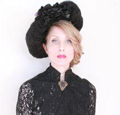 Antique Hat / EDWARDIAN / 1900s / Wide brim / by HighHatCouture