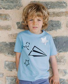 Camiseta avión azul | Corazón de león KIDS moda infantil