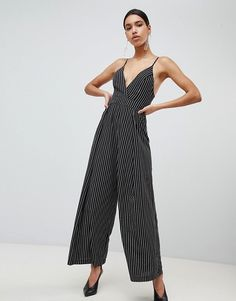 ASOS - Parallel Lines Wide Leg Jumpsuit In Stripe