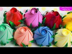 Diy Ribbon Flowers, Organza Flowers, Kanzashi Flowers, Ribbon Art, Paper Flowers Diy, Ribbon Crafts, Fabric Flowers, Paper Crafts, Craft Ideas