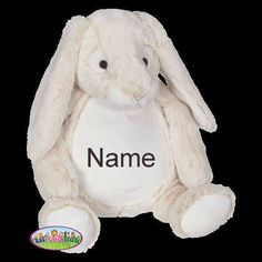 76c47b891bb0 Amazon - Lil' Cub Hub Personalized Cubbies · Personalized Baby Gift Stuffed  Animal Easter Bunny by LilCubHub Cubbies, Baby Shower Gifts, Cute