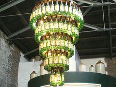 Lustre de bouteille sur pinterest bouteille de vin lustre lustre bouteille - Lustre bouteille verre ...