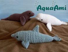 Dolphin, Sea Lion, Beluga Whales crochet amigurumi patterns