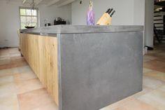 keukeneiland - hout met beton