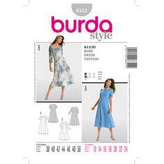 Burda 8351 Women's Dress 12 - 24   Spotlight Australia
