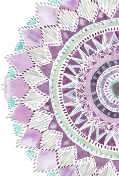 Part of being brave, IMHO, is not being attached to any kind of outcome. Do your best, leave the rest. This mandala was painted on a day when I was having massive amounts of fun on the beach and just went with the flow. #mandala #purple