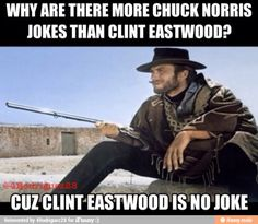 I promise no more Chuck Norris jokes..... Just for now!  Lol