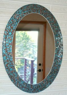 2 Verre Miroir rond Carreaux de mosa/ïque ronde Craft miroirs DIY accessoire