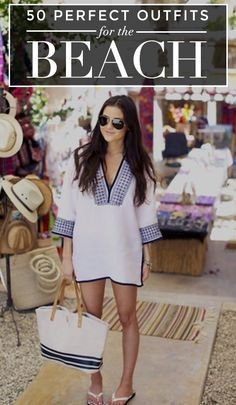 What to Wear to the Beach: 61 Stylish Outfit Ideas Coco Beach Style. Whites always look good with a tan skin. Mode Outfits, Stylish Outfits, Club Outfits, Vacation Outfits, Summer Outfits, Summer Clothes, Cancun Outfits, Vegas Outfits, Honeymoon Outfits