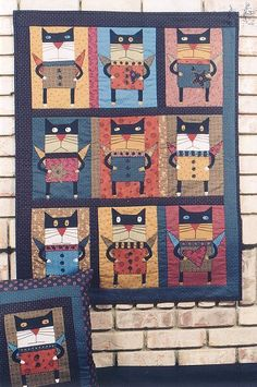 Alley Cat Tales with wings? Small Quilts, Mini Quilts, Quilting Projects, Quilting Designs, Cat Quilt Patterns, Embroidery Patterns, Alley Cat, Animal Quilts, Cat Pattern