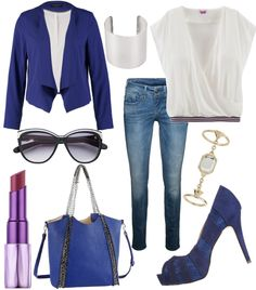 Funky Blue #fashion #style #look #dress #mode #outfit