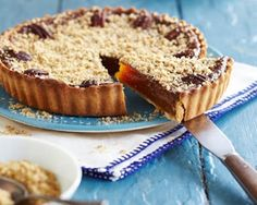 Treacle pie with sea salt crumble recipe