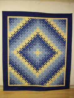 Radiant sunshine and shadow, blooming nine patch at JillQuilts