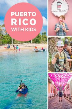 Puerto Rico with Kids can be so much fun! With beaches jungle zip lining snorkeling and history it's a paradise for family travel! Travel Tips Tips Travel Guide Hacks packing tour Travel Destinations Bucket Lists, Family Vacation Destinations, Places To Travel, Vacation Ideas, Travel Packing, Vacation Quotes, Bus Travel, Vacation Resorts, Vacation Packages