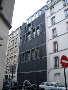 Herzog & de Meuron , Rue des Suisses housing, Paris