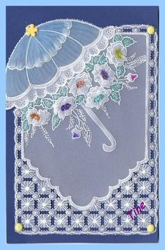 Pergamano de Martine: Parapluies Parchment Card, in French use google translate for a well translated tutorial.
