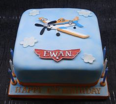 Disney Planes cake - Cake by That Cake Lady - CakesDecor Disney Planes Cake, Disney Planes Birthday, Disney Cakes, Cupcakes, Cupcake Cakes, Dusty Cake, Birthday Fun, Birthday Ideas, Birthday Cakes
