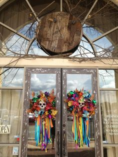 Halloween Wreaths for the front door(s)- from TheBloggess (TheBloggess) on Twitter