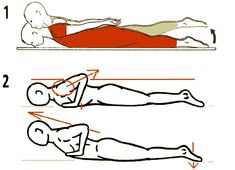 Exit dos rond- Exercice de tonification dorso-lombaire....reépinglé par Maurie Daboux .•*`*•. ❥