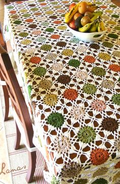 [Free Crochet Pattern] This Stunning Table Cloth Is Truly A Work Of Art!