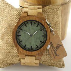 BOBO BIRD 2017 Men's Watch Bamboo Wooden Wristwatch Wood Strap Glow Analog Japan majoy 2035 Wood Watches relojes hombre 2017