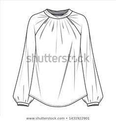 Blouse Fashion Flat Sketche Template Stock Vector (Royalty Free) 1431922901 - Sketch Templates - Ideas of Sketch Templates - Blouse Fashion flat sketche template Clothing Sketches, Dress Sketches, Fashion Design Portfolio, Fashion Design Sketches, Shirt Sketch, Fashion Illustration Sketches, Design Illustrations, Fashion Vector, Fashion Design Template