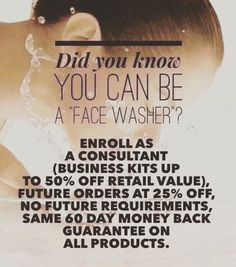 DID YOU KNOW?!?!? You can purchase Rodan and Fields products at the price I pay and not have to sell a thing?  Its called being a face washer. As a FACE WASHER you initially purchase a business kit which includes a ton of products and tools for 50% off and then you get 25% off on all future orders!  You can then decide if you want to activate your Consultant status and become an active consultant the next day the next week or never! Its that easy!  Message me for more info!#rodanandfields…