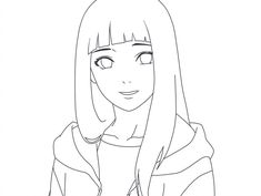 Desenhos Colorir Hinata Naruto - Hinata Uzumaki is a kunoichi and the former heiress to the Hyága clan. Because of his meek character, his father doubted that she was suited to the re. Naruto Drawings Easy, Naruto Sketch Drawing, Anime Drawings Sketches, Anime Sketch, Manga Drawing, Easy Drawings, Anime Naruto, Naruto Kawaii, Naruto Und Hinata