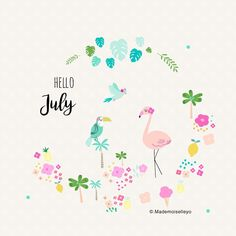 Hello July, enjoyed the summer time.