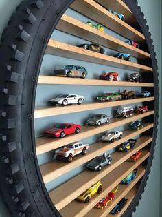 Hot Wheels Storage, Toy Car Storage, Hot Wheels Display, Boot Storage, Playroom Storage, Kids Room Organization, Crate Storage, Toy Rooms, Kids Bedroom